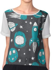 Space Age  Chiffon Top