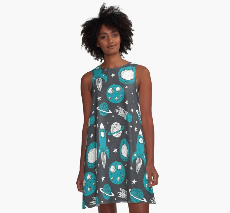 Space Age by A-Line Dress Tracie Andrews on Redbubble