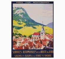 Services Automobiles, French Travel Poster Kids Tee