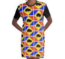WOMBAT CROSSING (VICTORIA)-POPART Graphic T-Shirt Dress