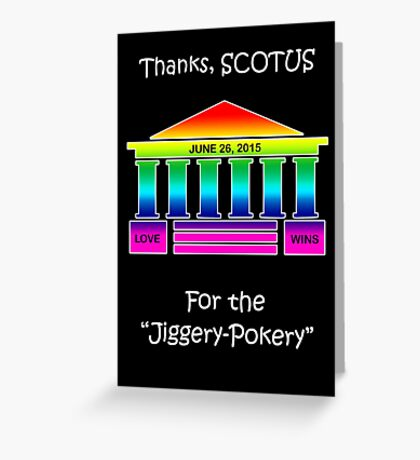 Supreme Court Legalizes Same Sex Marriage Greeting Card
