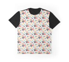 Super Hero Bear in Cape With Stars Graphic T-Shirt