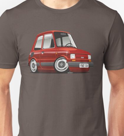 Fiat 126 caricature red Unisex T-Shirt