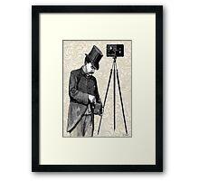 Victorian Steampunk Photographer Camera Framed Print