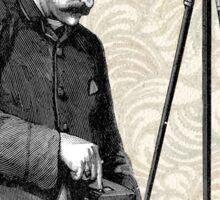 Victorian Steampunk Photographer Camera Sticker