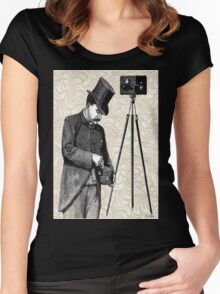 Victorian Steampunk Photographer Camera Women's Fitted Scoop T-Shirt