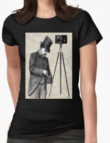 Victorian Steampunk Photographer Camera Womens Fitted T-Shirt