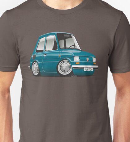 Fiat 126 caricature turquoise Unisex T-Shirt