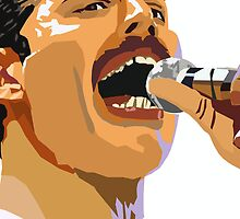 Pop art Freddie Mercury by raidensden