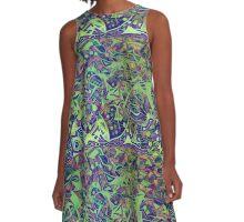"""Fancy Foot Work - Mustard Greens"" A-Line Dress"