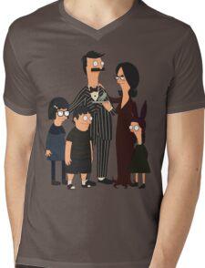 Addams' Family Burgers Mens V-Neck T-Shirt