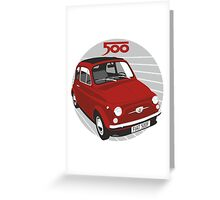 Fiat 500F red Greeting Card