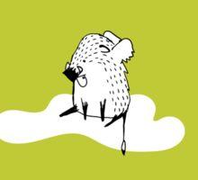 Flying Hog by Amanda Jones Sticker