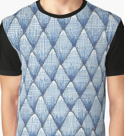 sketchy blue scale pattern Graphic T-Shirt