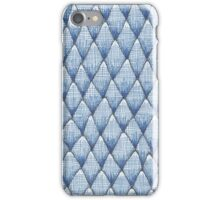 sketchy blue scale pattern iPhone Case/Skin