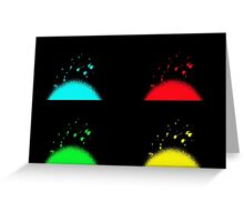 Pop Art Fireworks Greeting Card