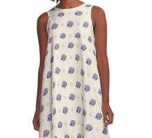 Purple Shell  A-Line Dress