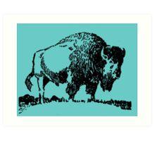 Buffalo - Black Art Print