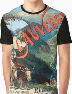 L'Auvergne, French Travel Poster Graphic T-Shirt