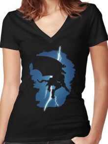 Goliath Returns  Women's Fitted V-Neck T-Shirt
