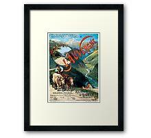 L'Auvergne, French Travel Poster Framed Print