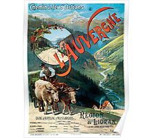L'Auvergne, French Travel Poster Poster