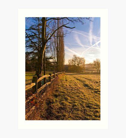 A morning walk in Kent Art Print