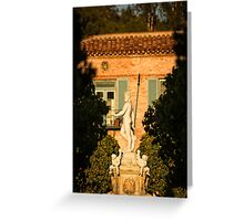 Neptune Fountain - Palos Verdes Estates, CA Greeting Card