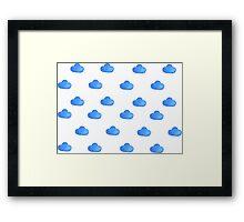 Set of watercolor clouds for design Framed Print