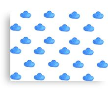 Set of watercolor clouds for design Canvas Print