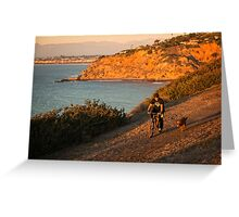 Bluff Ride at Sunset - Palos Verdes Estates, CA Greeting Card