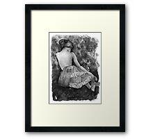 Monochrome beauty Framed Print