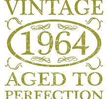 Vintage 1964 Birth Year by thepixelgarden