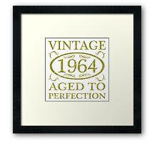 Vintage 1964 Birth Year Framed Print