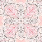 Peaches and Cream Doodle Tile Pattern by micklyn