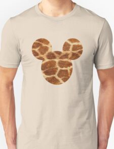 Mouse Giraffe Print Patterned Silhouette Unisex T-Shirt
