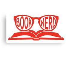 Book Nerd 2 (Red) Canvas Print