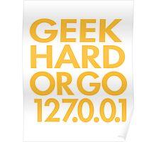 Geek Hard Poster