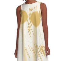 TYXPI FACE 1 Design (Spicy Mustard Color) A-Line Dress