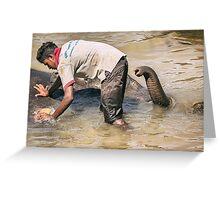 Up Periscope! - Pinnawela, Sri Lanka Greeting Card