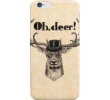 Oh, deer me! iPhone Case/Skin