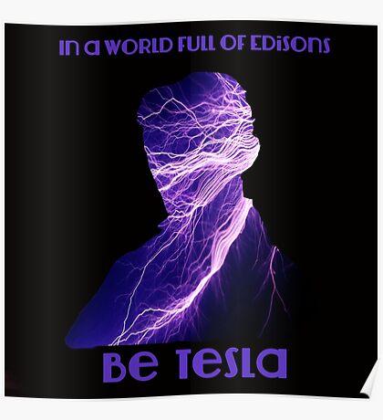 Nikola Tesla one Poster