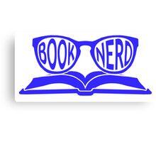 Book Nerd 2 (Blue) Canvas Print