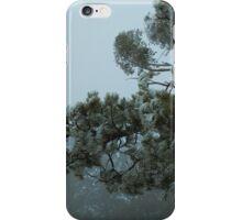 Horizontal Hail Pine Tree iPhone Case/Skin