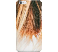 Brown hair don't care iPhone Case/Skin