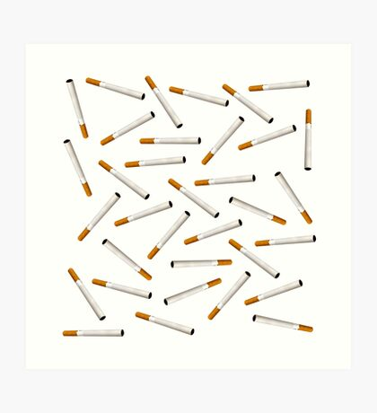 Cigarette pattern Art Print