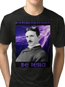 Nikola Tesla two Tri-blend T-Shirt