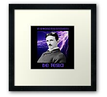 Nikola Tesla two Framed Print