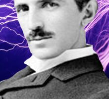 Nikola Tesla two Sticker