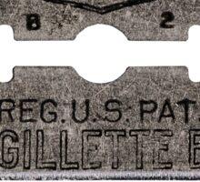 vintage razor Sticker